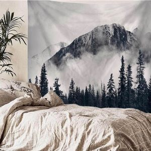 "59"" x 78"" mountain scene tapestry"